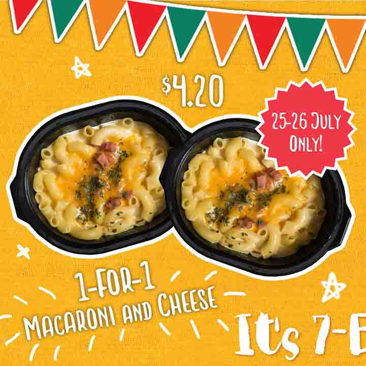 1 For 1 Macaroni Cheese From 7 Eleven