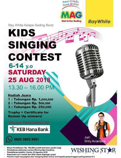 kids singing contest at mall artha gading mal artha gading