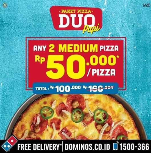 Special Price Duo Package At Domino S Pizza Tangcity Mall