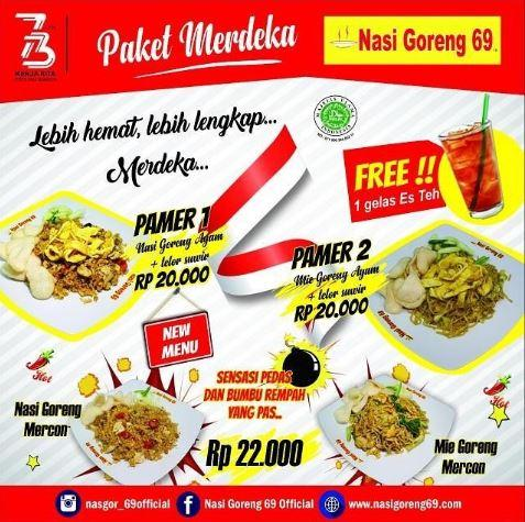 Promo Package from Nasi Goreng 69 August 2018 - Sunrise Mall