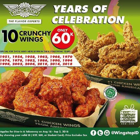 Promo Price From Wing Stop Kota Kasablanka