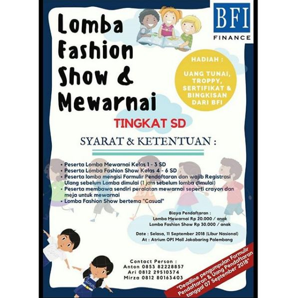 Lomba Fashion Show Mewarnai Di Opi Mall Gotomalls