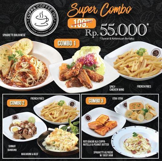 Promo Super Combo Dari Cuppa Coffee September 2018 Teraskota Entertainment Center