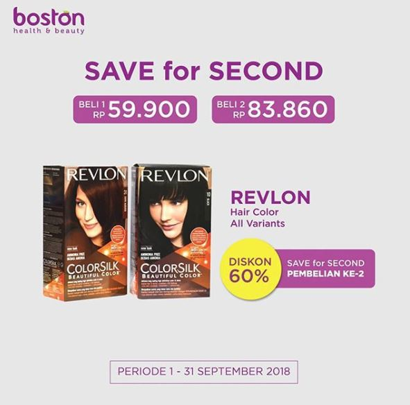 REVLON Hair Color Discount 60% at Boston Health & Beauty - Jogja ...