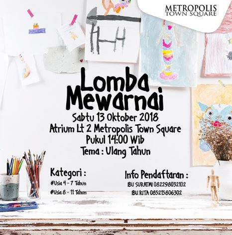 Lomba Mewarnai Di Metropolis Town Square Gotomalls