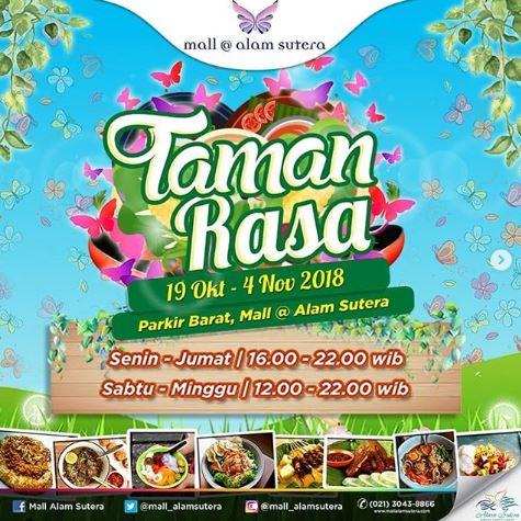 Taman Rasa At Mall Alam Sutera Gotomalls