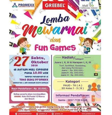Coloring And Fun Games Competition At Mall Cipinang Indah Gotomalls