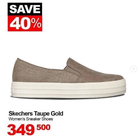 Discount 40% Skechers Taupe Gold at Sports Station - Central Park b5885eb568