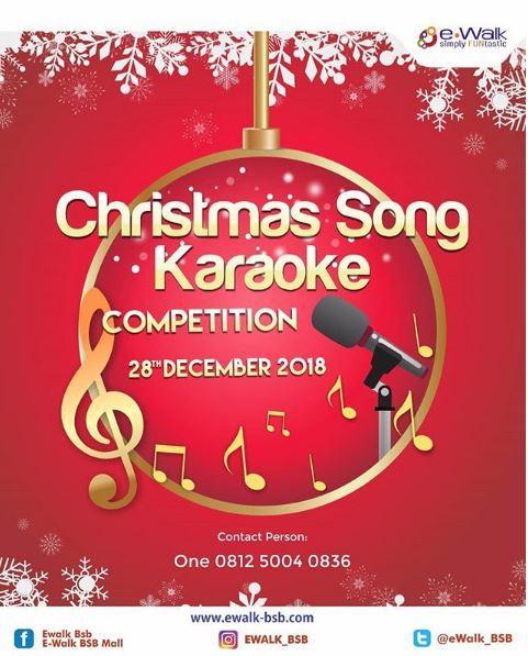 Karaoke Christmas Songs.Christmas Song Karaoke Competition At E Walk E Walk