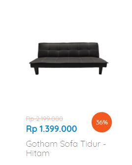 Discount 36 Gotham Sofa Tidur Dari Informa Gotomalls