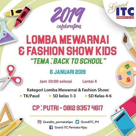 Lomba Mewarnai Fashion Show Kids Di Grand Itc Permata Hijau