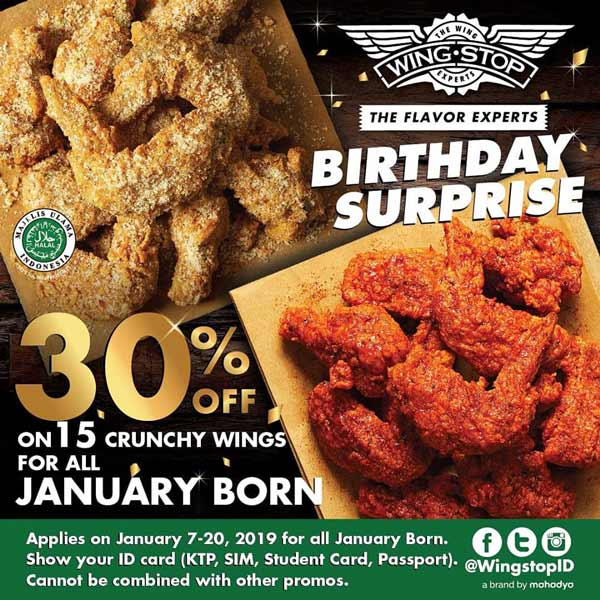 Birthday Promotion From Wingstop Gotomalls