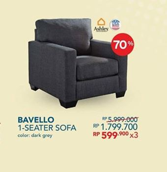 Save 70 Bavello 1 Seater Sofa From Informa Hartono Mall Jogja