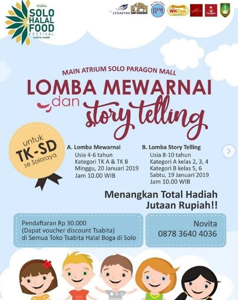 Coloring Competition And Story Telling At Solo Paragon Mall Gotomalls