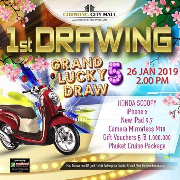 Grand Lucky Draw 5 At Cibinong City Mall Gotomalls