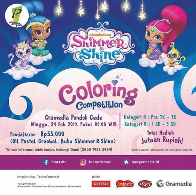 Shimmer Shine Coloring Competition At Gramedia Pondok Gede Gotomalls