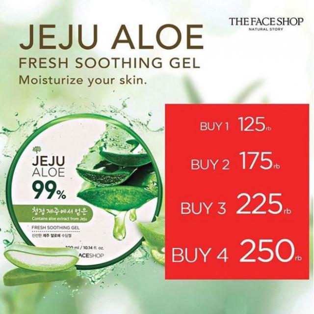 Jeju Aloe Fresh Soothing Gel Untuk Muka Berjerawat
