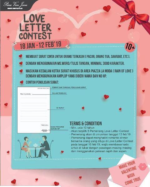 Kontes Surat Cinta Di Paris Van Java Gotomalls