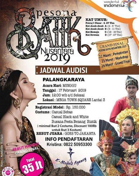 Audition Of Enchanting Batik Nusantara 2019 At Mega Town Square
