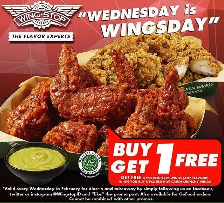 Buy 1 Get 1 Free Promo From Wingstop Lippo Mall Puri