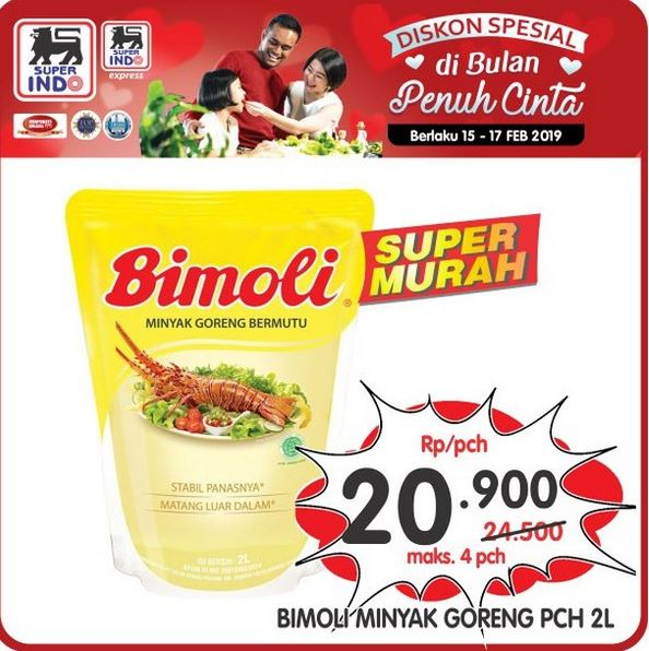 Bimoli Fried Oil Promotion Rp 20 900 at Superindo - Plaza Surabaya