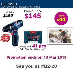Special Price For Bosch From Selffix DIY - Hougang Mall