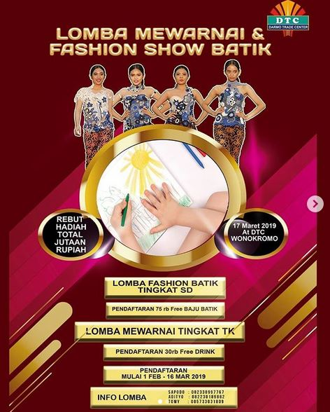 Fashion Show Batik Competition At Darmo Trade Center Gotomalls