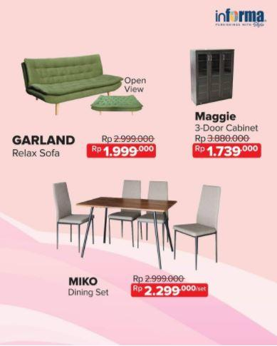 Special Prices For Furniture Products From Informa March 2019 Living World Pekanbaru