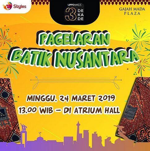 Nusantara Batik Show At Gajah Mada Plaza March 2019 Gotomalls