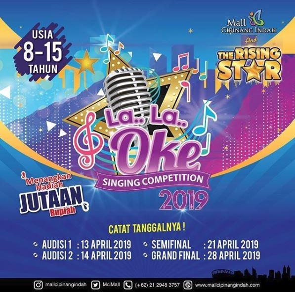 La La Oke Singing Competition 2019 at Mall Cipinang Indah