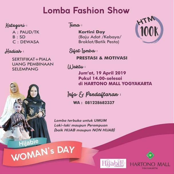Lomba Fashion Show Di Hartono Mall Jogja April 2019 Gotomalls