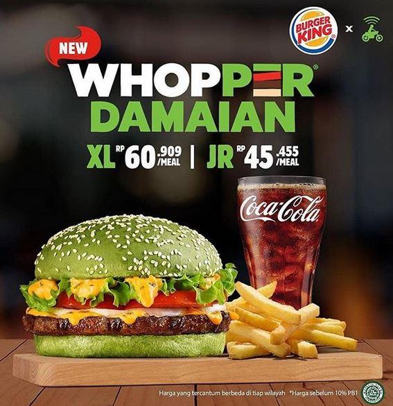 Whopper Damaian Promotion Rp 45 455 at Burger King - Gotomalls