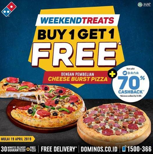 Promo Beli 1 Gratis 1 Di Domino Pizza April 2019 Gotomalls