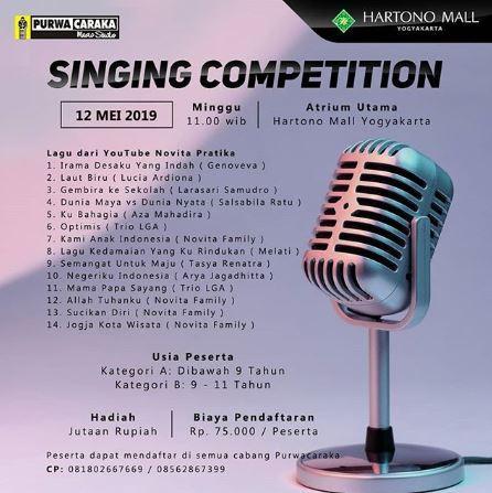 Singing Competition at Hartono Mall Yogyakarta - Gotomalls