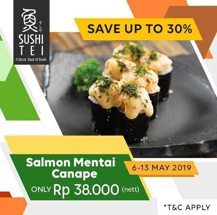 Save Up To 30 For Salmon Mentai Canape At Sushi Tei May 2019