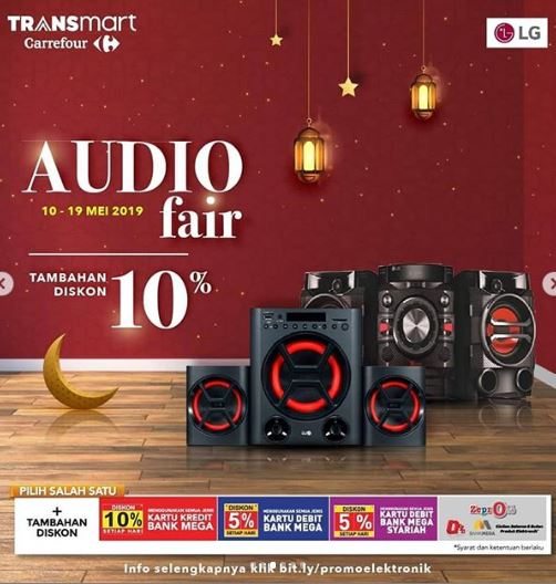 Discount Additional 10% on the Audio Fair at Carrefour