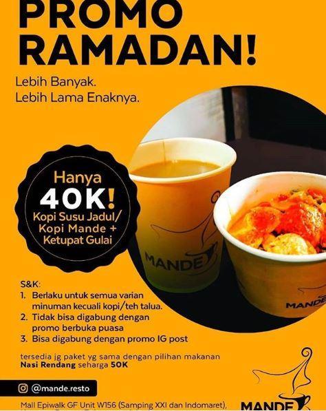 Promo Ramadan At Mande Resto May 2019 Gotomalls