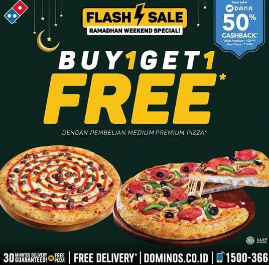 Promo Buy 1 Free 1 at Domino Pizza - Tangcity Mall