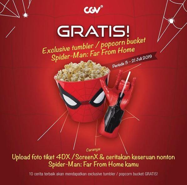 Gratis Merchandise Exclusive Spider Man Di Cgv Icon Mall Gresik