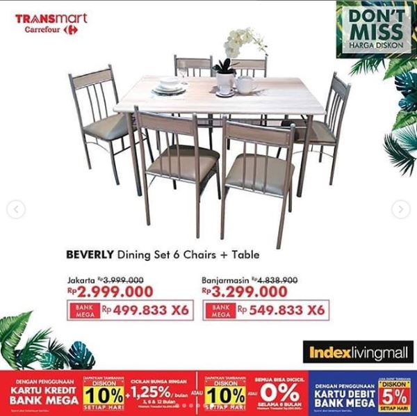 Promo Beverly Dining Chair Table Di Transmart Juli 2019 Gotomalls