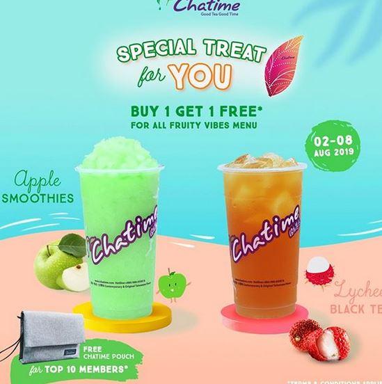 Buy 1 Get 1 Free Foor All Fruity Vibes Menu at Chatime