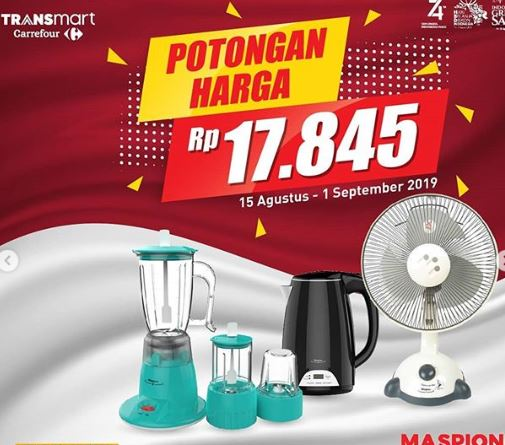 Promo Produk Elektronik Maspion Di Transmart Carrefour Agustus 2019 Gotomalls