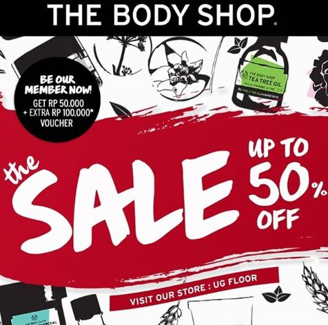 Sale Up to 50% at The Body Shop - Gotomalls