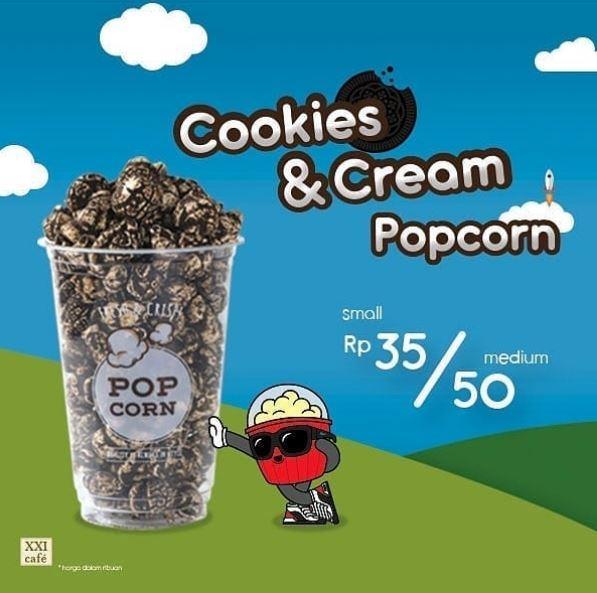 Promo Cookies Cream Popcorn Di Cinema Xxi Cafe September 2019
