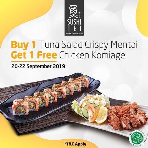 Buy 1 Get 1 Free At Sushi Tei September 2019 Sidewalk Jimbaran