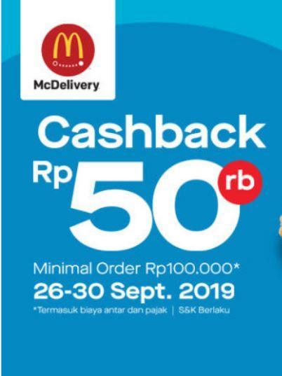 Promo Cashback Rp 50 000 Di Mcdonalds September 2019 Gotomalls