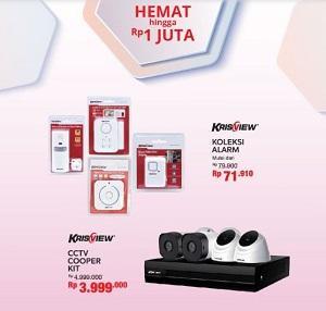 Promo Krisview Cctv Cooper Kit Dan Alarm Krisview Di Ace Hardware November 2019 Maluku City Mall