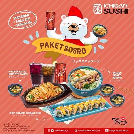 Promo Paket Sosro at Ichiban Sushi November 2019 - Gotomalls