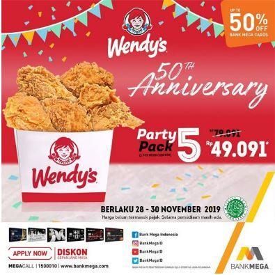 Promo Paket 5 Potong Ayam Di Wendy S November 2019 Gotomalls