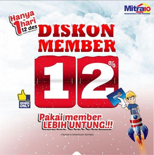 12 12 Promo 12 Discount For Members At Mitra10 December 2019 Gotomalls